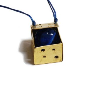 Cube Necklace Blue 300x300 - valora image