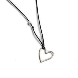 Heart Silver Necklace 925 300x300 - valora image
