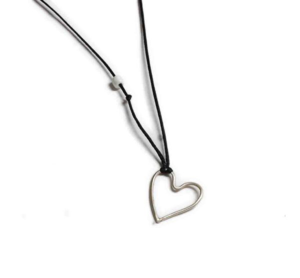 Heart Silver Necklace 925 600x556 - valora image