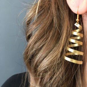 Σπιράλ σκουλαρίκια χρυσά