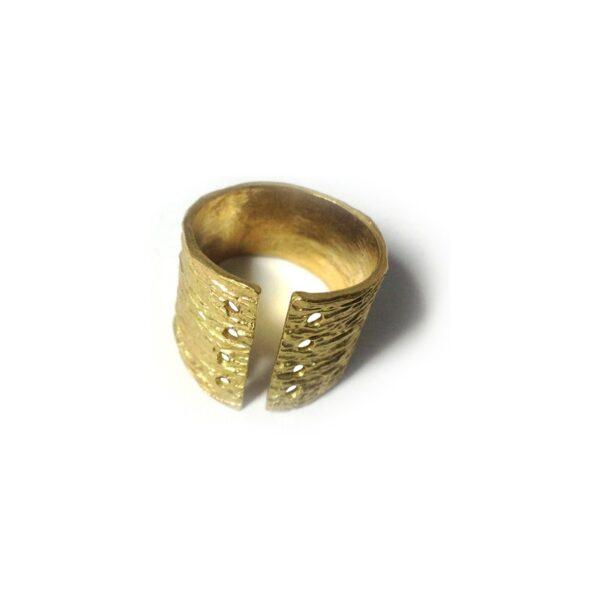 Δαχτυλίδι από ορείχαλκο χρυσό