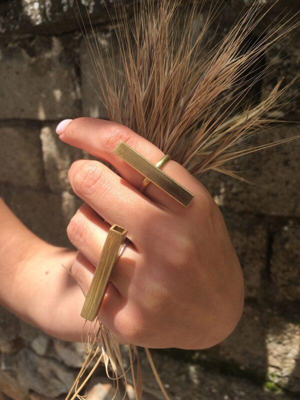 Δαχτυλίδι μπρούτζινο χειροποίητο