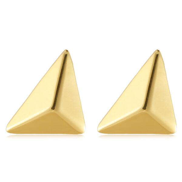 Σκουλαρίκια stud χρυσή πυραμίδα