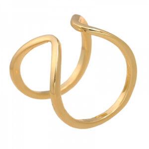 Δαχτυλίδι χρυσό διπλό ρυθμιζόμενο