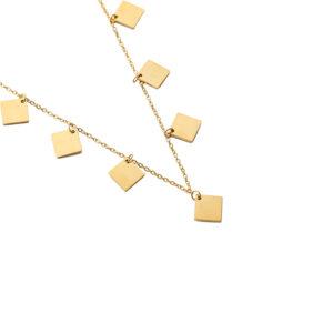 Χρυσό κολιέ με charms