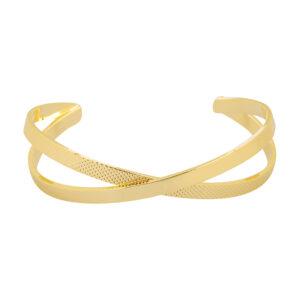 Βραχιόλι χειροπέδα χρυσό