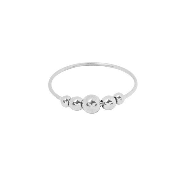 Δαχτυλίδι ασημί rounds