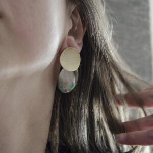 Σκουλαρίκια από κοχύλι